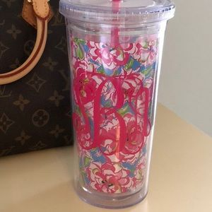 """Lilly Pulitzer Tumbler in """"Lucky Charms Blue"""""""